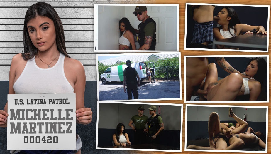 Latina Patrol Michelle Martinez - Tased and Confined